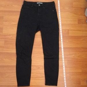Topshop Moto Jamie cropped black jeans